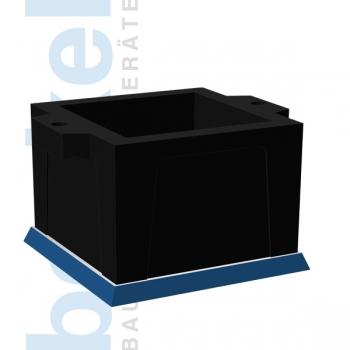 Würfelform Kunststoff Esty 150 Gußbodenplatte