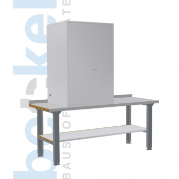 Arbeitstisch f. Schalldämmschrank 1 Siebmaschine
