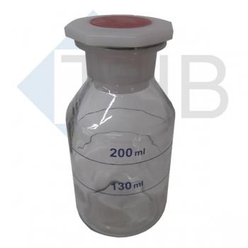 Weithalsflasche/Natron-laugeglas mit Stopfen 250 ml