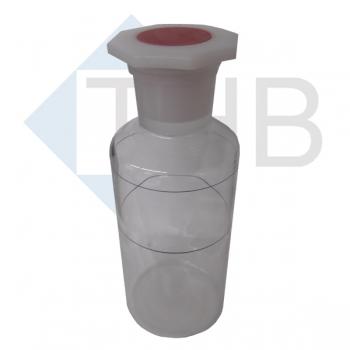 Weithalsflasche 450 ml mit Stopfen