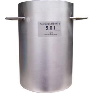 Normgefäß 5 Liter nach DIN EN 1097-3